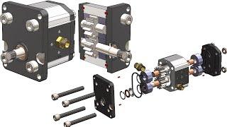 SolidWorks Tutorial # 355: Hydraulic Gear Pump