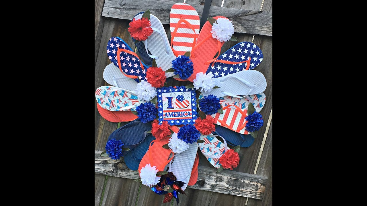 f5fd880045f242 How to make a flip flop wreath with dollar tree supplies