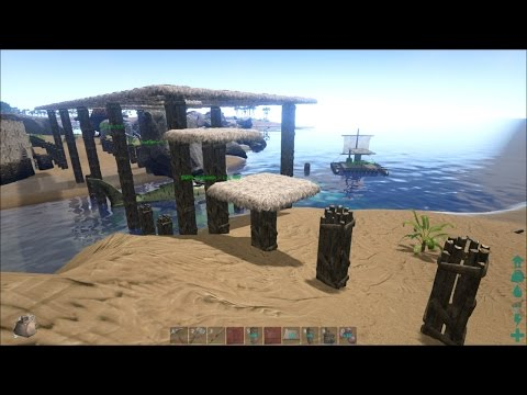 ARK: Survival Evolved #31 - Harbor/Bridge Construction Sketching & No Peek Pillars