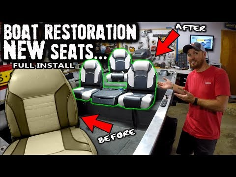 Installing The NEW Seats | Boat Restoration | DIY | 2019