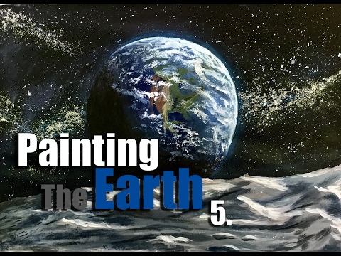 Let's Paint | Timelapse Art | Painting The Earth | Acrylic On Paper
