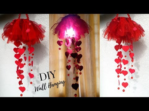 New DIY Heart Wall Hanging Craft Ideas For room Decoration - DIY Wall Decor by Maya kalista!