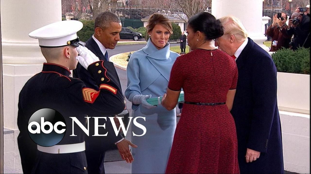 Melania's Gift to Michelle Obama - YouTube
