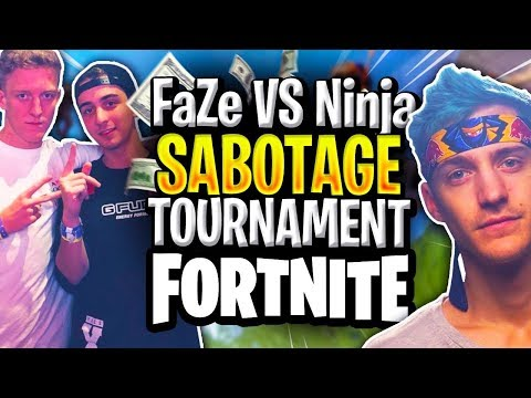 FaZe v Ninja! Sabotaging tournament against Ninja to win $20,000!