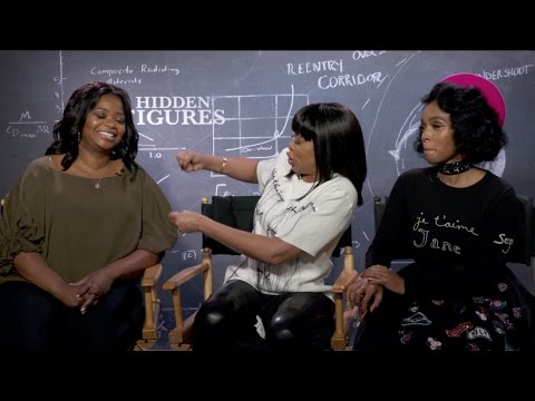 HIDDEN FIGURES interviews - Taraji P. Henson, Octavia Spencer, Monae Pharrell Costner Parsons