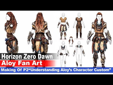 "Fan Art - ""Aloy"" Horizon Zero Dawn (Character Design Study) ""Part 2"""