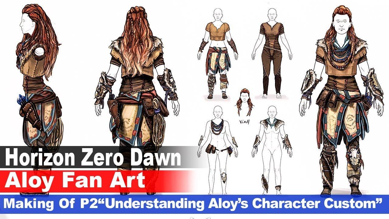 Aloy Horizon Zero Dawn Fan Art Painting By Rainwalker