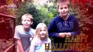 Kids hunt zombies in the creepy forest