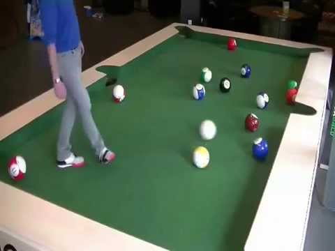 AMAZING Football Pool Table Who Wants To Play YouTube - Games to play on a pool table