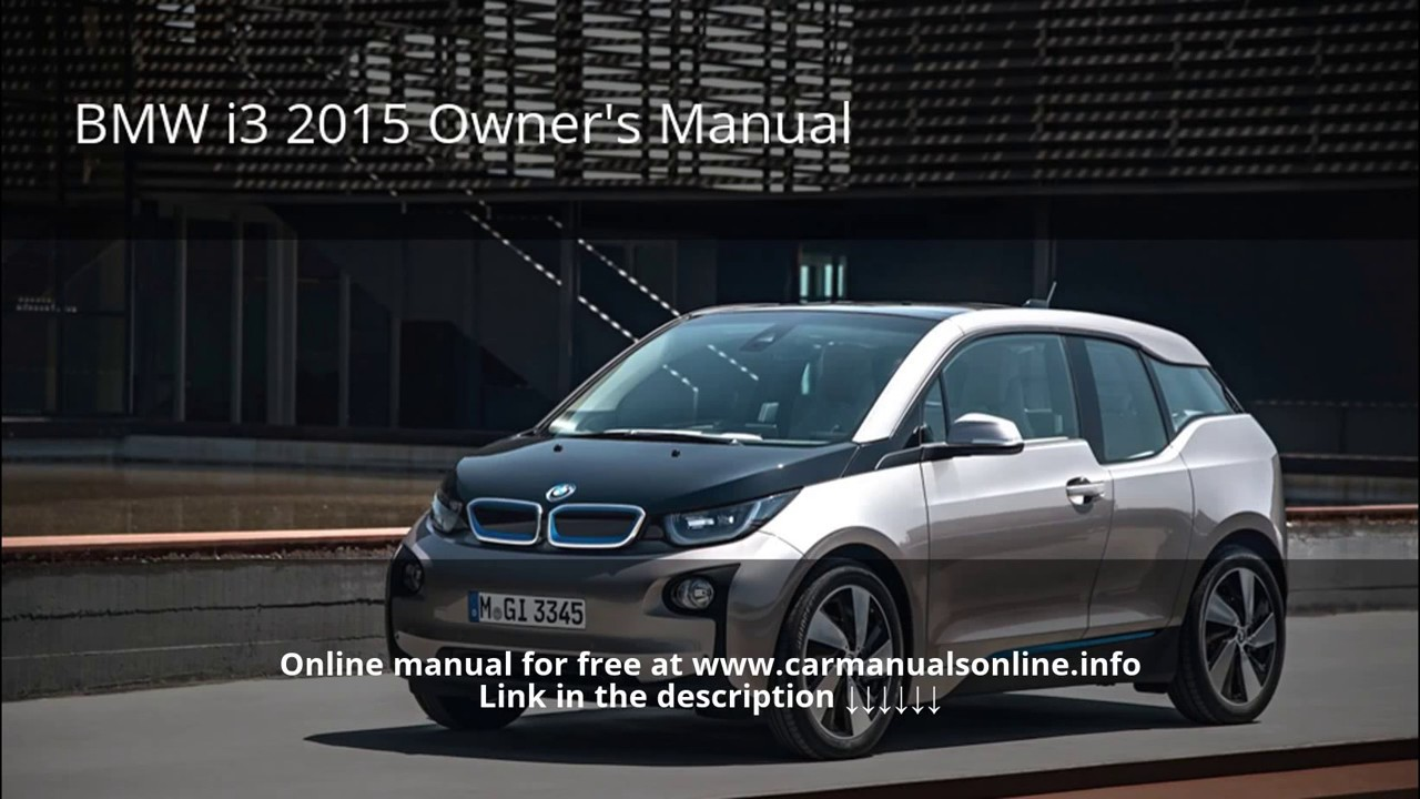 2015 BMW i3 owners manual