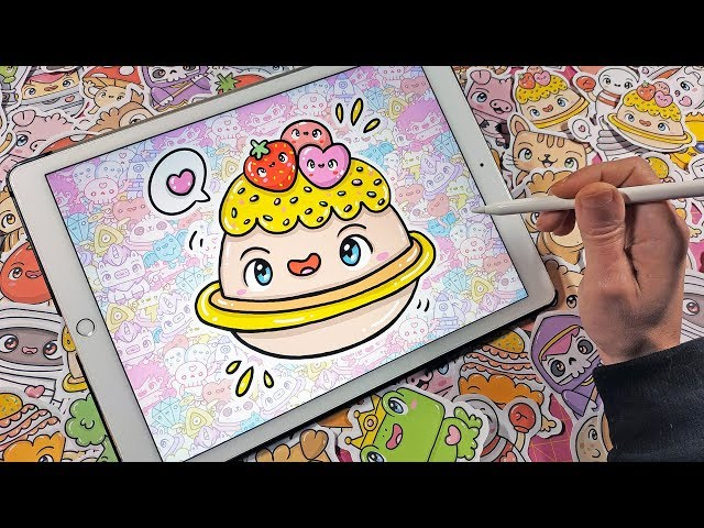 How To Draw Cupcake Planet - Kawaii Doodles by Garbi KW