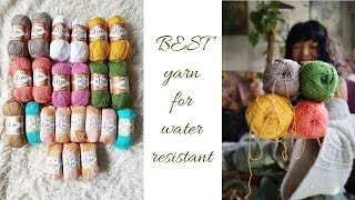 What is the BEST yarn for swimming/WATER RESISTANT YARNS