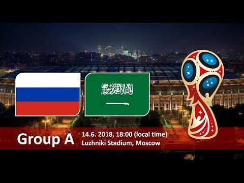 World cup 2018. Game 1 of 64 Russia vs Saudi Arabia PES18
