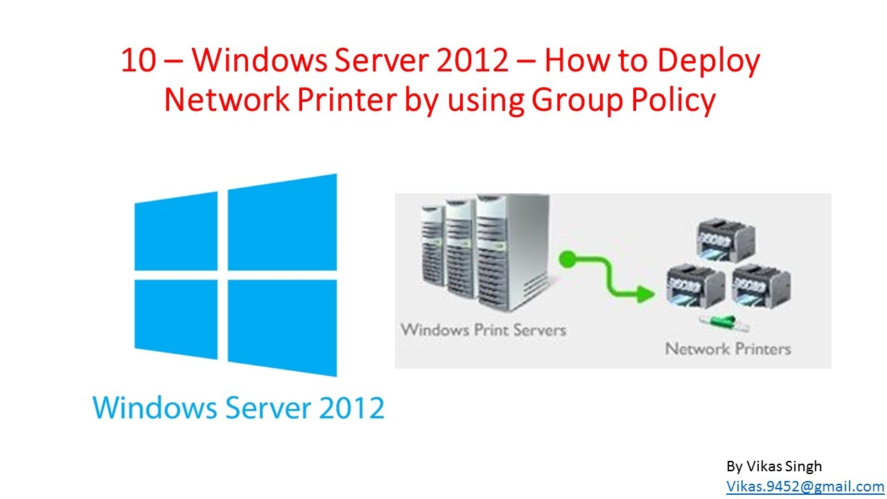 10 – Windows Server 2012 – How to Deploy Network Printer by using Group  Policy