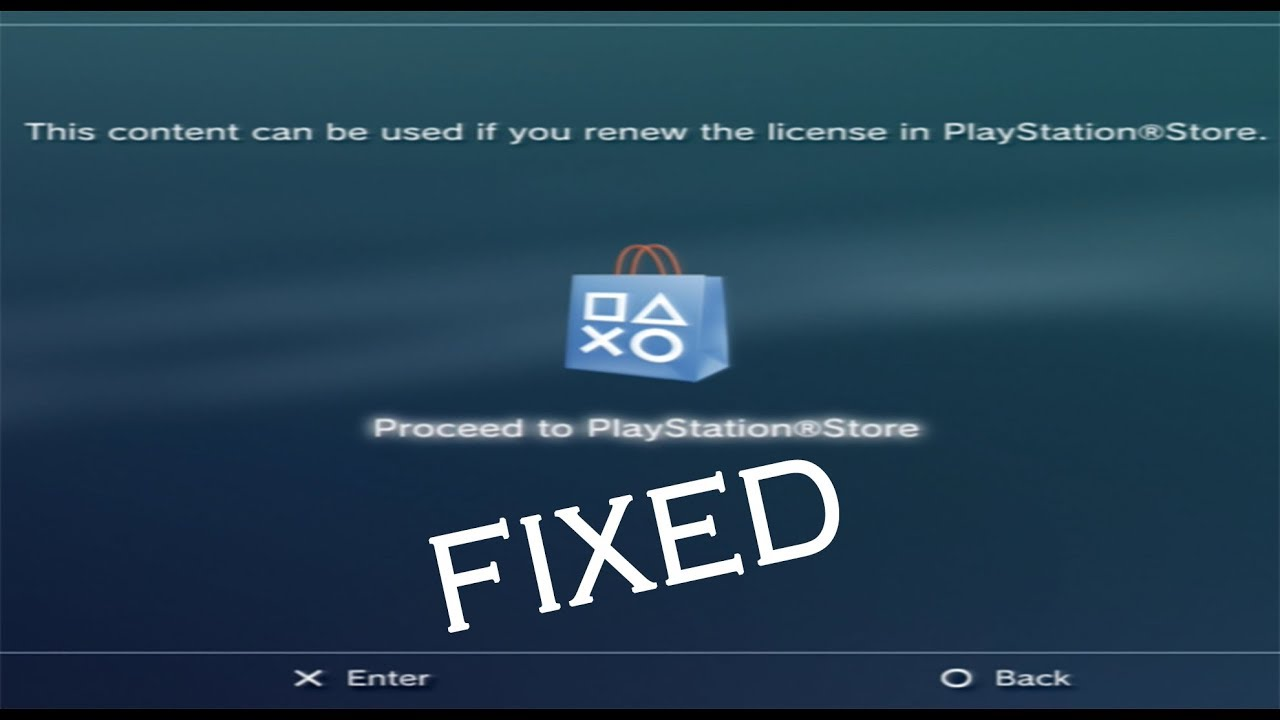 [Fix] This content can be used if you renew the licence in PlayStation  Store - CFW 4 82