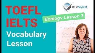 TOEFL Vocabulary - Ecology Lesson 3