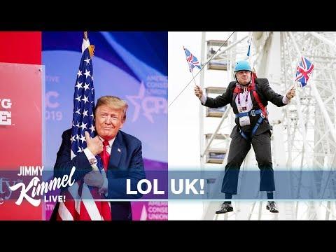 Jimmy Fallon, Jimmy Kimmel, Trevor Noah laugh at the similarities between Trump and Britain's Boris Johnson