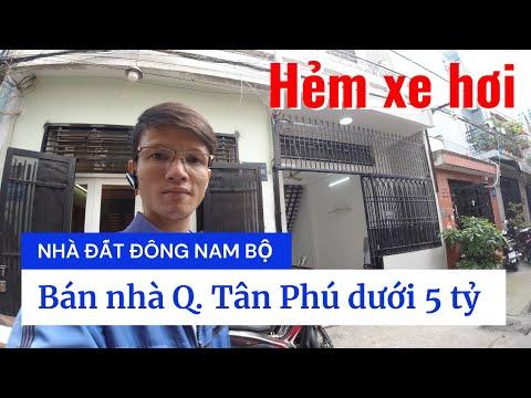 Chính chủ Bán nhà quận Tân Phú dưới 5 tỷ 2021, hẻm 5m đường Vườn Lài, Phú Thọ Hòa, cách mặt tiền 10m