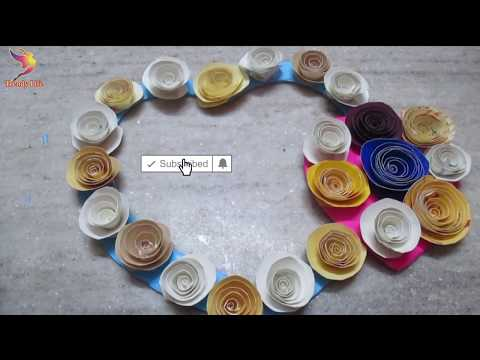 Heart Wall hanging with old wedding card/Jhumar craft idea/DIY  Wind Chime/jhumar/artmypassion