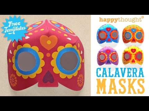 Day Of The Dead Calavera Mask Step By Video Tutorial Templates To Download