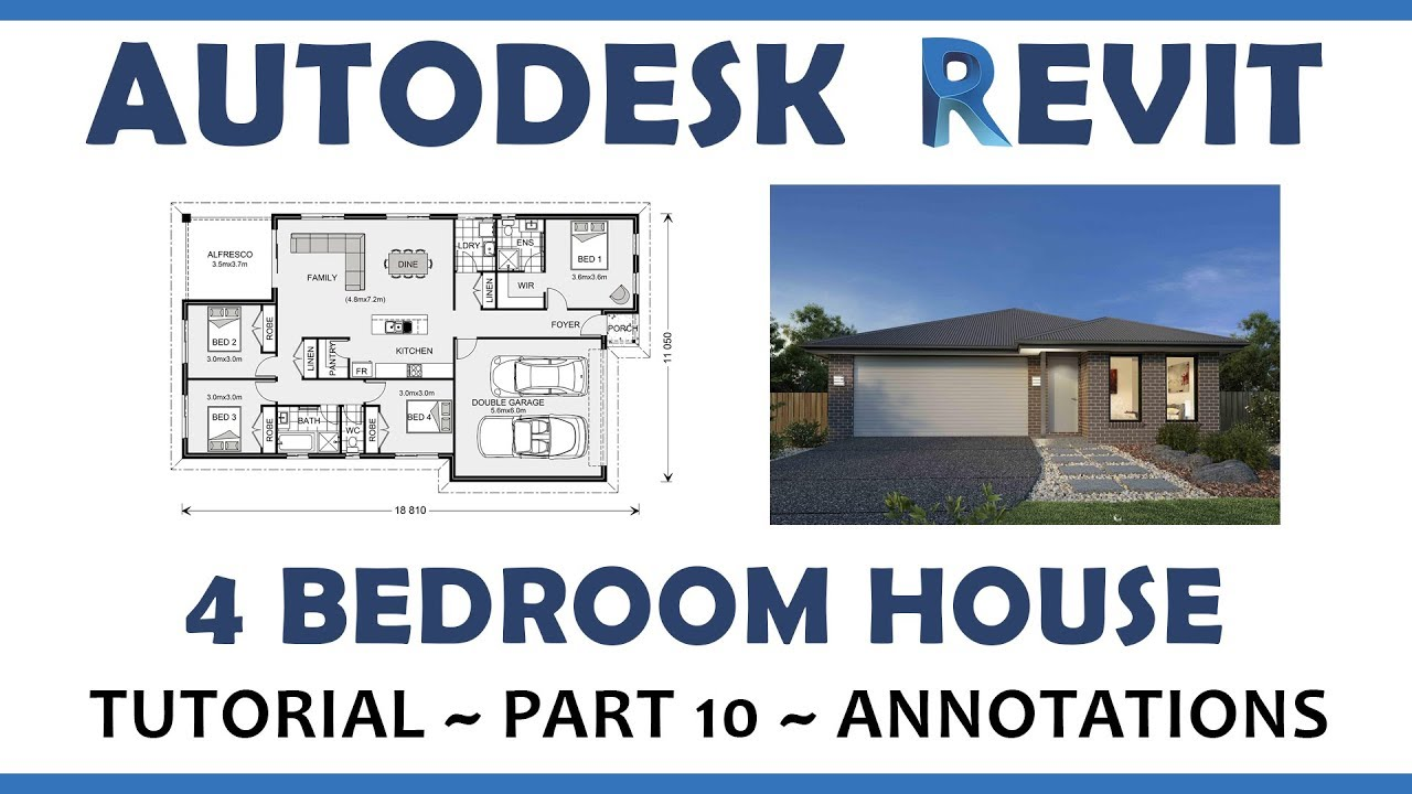 Autodesk Revit   4 Bedroom Home Design Tutorial   10. Annotations