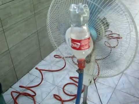 Climatizador caseiro feito com garrafa de coca cola 600ml - Climatizador de agua ...