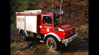 Pożar lasu w Nadleśnictwie Bielsko - ćwiczenia jednostek OSP i PSP