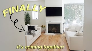 I FINALLY HAVE FURNITURE! living room is coming together!