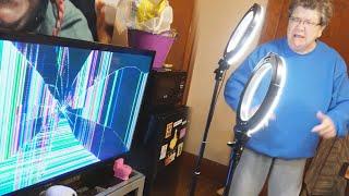 BROKEN TV PRANK ON ANGRY GRANDMA!