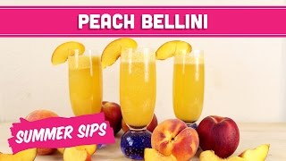 Virgin Peach Bellini! Summer Sips In Sixty Seconds - Mind Over Munch