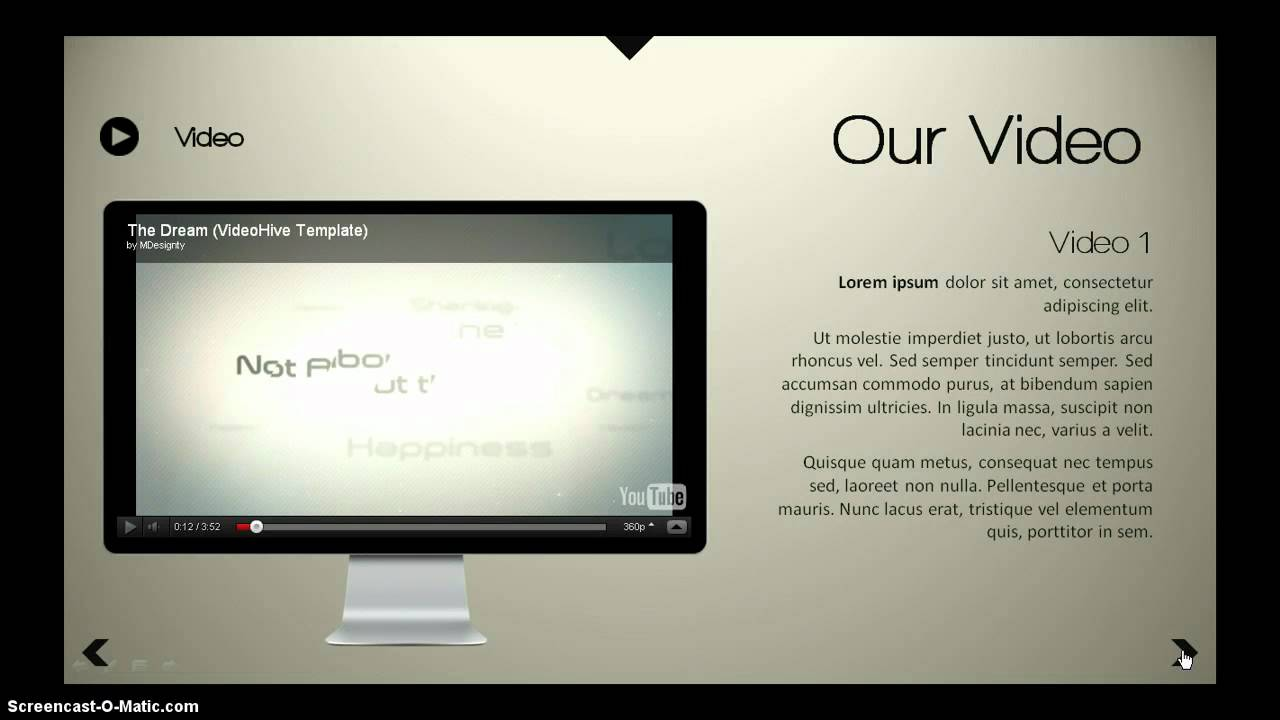 interactive - powerpoint template - youtube, Modern powerpoint