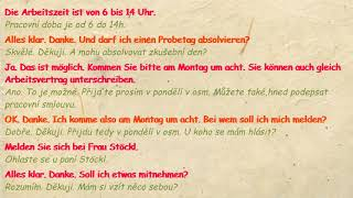 Pracovní Pohovor - Vorstellungsgespräch - A1