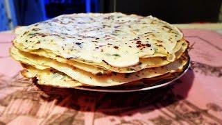 Как приготовить блинчики с сыром и зеленью | Готовим сырные блинчики с зеленью | Блины с сыром