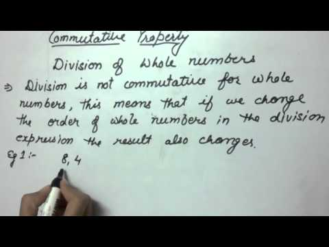 Commutative Property Division Of Whole Numbers Example 1 Youtube
