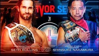 WWE SURVIVOR SERIES 2018 REMAKE MATCH CARD PSD Y PARTES BY Jika
