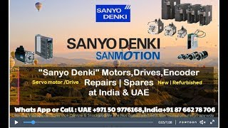 Sanyo Denki Servo Motor Repair INDIA UAE Dubai - Encoder Adjust Align Install Connect HOW