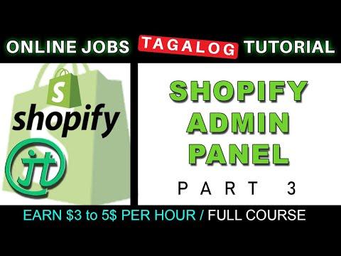 Shopify Admin Panel Tutorials Online Jobs at Home Virtual Assistant Job Philippines Tagalog thumbnail