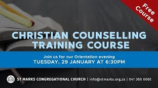29/01/2019 - Christian Counselling Training - Introduction