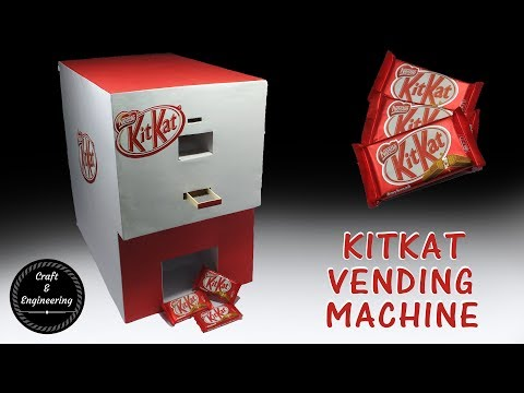 Money operated KITKAT vending machine with dimensions - How to make