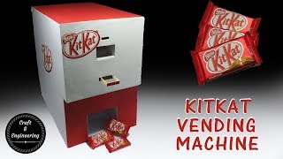 How to make a KitKat chocolate vending machine with cardboard