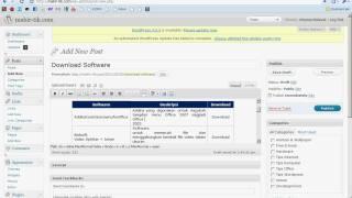 Cara Membuat tabel di Blog atau website dengan mudah dan cepat
