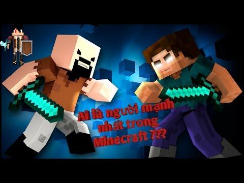 ▶ Ai là người mạnh nhất trong thế giới Minecraft ??? Notch VS Herobrine | MCPE 0.16.0 addons