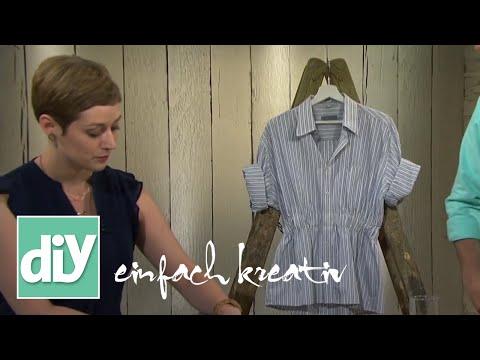 Sommerbluse Aus Altem Herrenhemd | DIY Einfach Kreativ