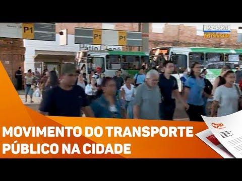 Movimento do transporte público na cidade - TV SOROCABA/SBT