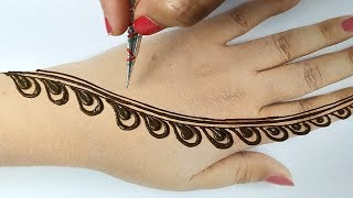 - Easy Stylish Mehndi Design Step by Step - Backhand Mehndi Design