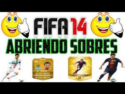 TRUCO ABRIR SOBRES EN FIFA 14