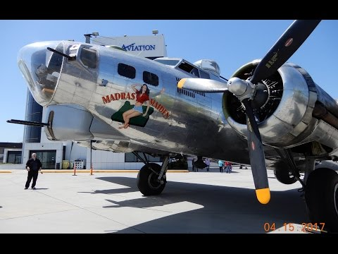 Take a Flight on-board the B-17 Madras Maiden Bomber at Long Beach Airport