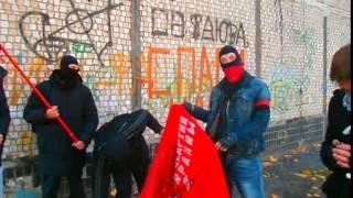 Утром 5 октября активисты Правого сектора Харьков уничтожили рассадник террора возле ТЦ