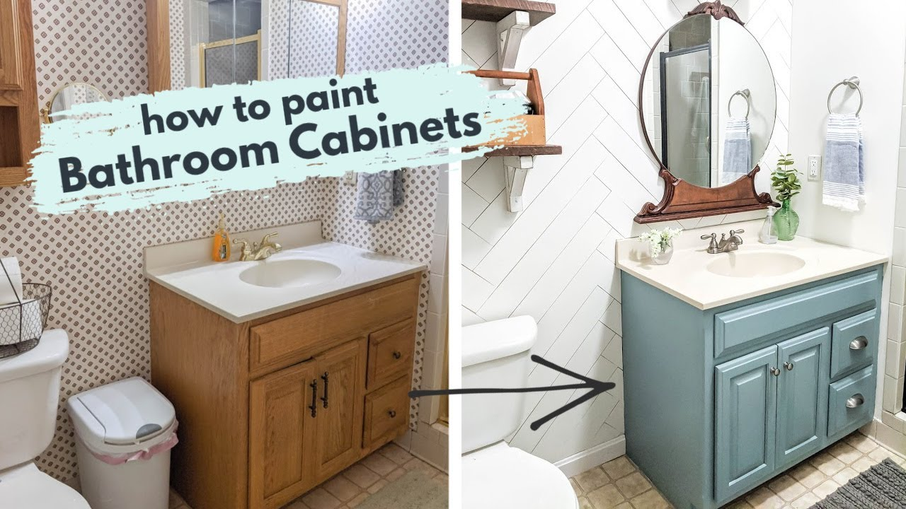 How To Paint Bathroom Cabinets Secrets For A Perfect Finish Youtube