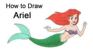 How to Draw Ariel the Little Mermaid (full body)